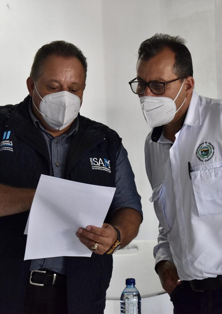 Alcalde de Zapotitlán, Jutiapa es atendido por titular de la COPRESAM