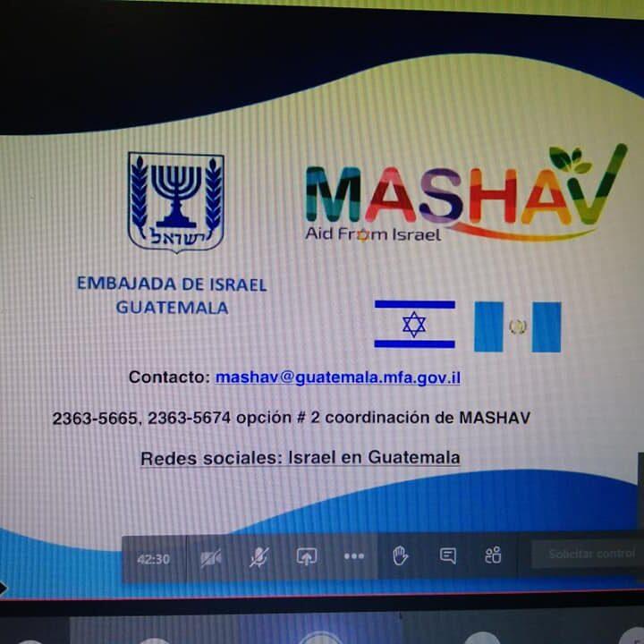 Dan a conocer becas y programas educativos dirigidos a alcaldes y gobernadores en reunión virtual propiciada por Copresam y la Embajada de Israel en Guatemala.