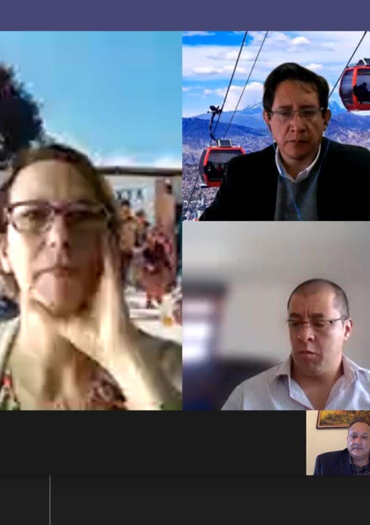 Comisionado Luis Ruano se reúne de manera virtual con Eleanor Allen, CEO de Water For People.