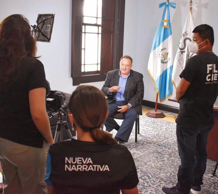 «BICIRUTA 502», el documental que la organización Nueva Narrativa se encuentra grabando.