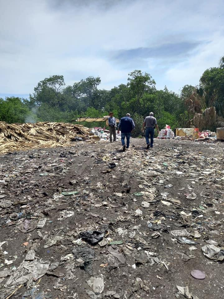 Copresam y MARN realizan visita de campo a basurero clandestino en Chiquimulilla, Santa Rosa.