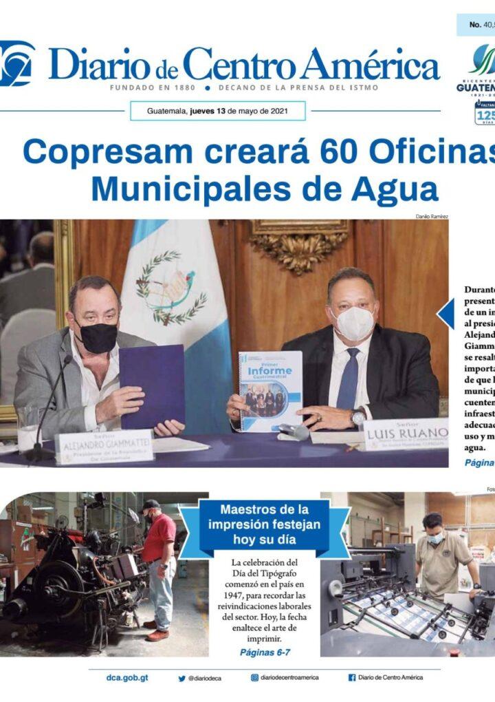 Diario de Centro América: 13 de mayo de 2021